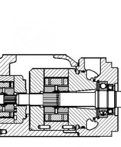 Denison vængjadæla T6xx T7xx teikning